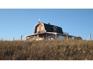 Cordwood House on 9+acres with 270 degree of views!