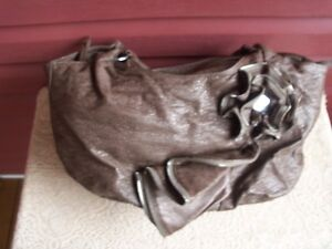 Lovely Soft Ladies Handbag with Beautiful Flower Accent!