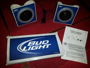 Bud Light Portable speakers with 3.5mm plug