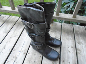 High length fashion boots.
