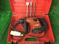 Hilti TE 16C AVR Combi Hammmer Drill / Light Breaker 110v Plus New Chisels