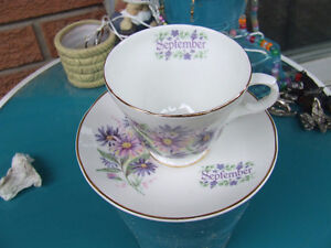 Ad8- Vintage Crown Trent Fine Bone China - Sept Cup & Saucer $20