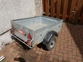 Small galvanised 1.2m Caddy garden trailer