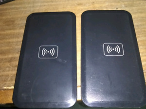 2 wireless Qi chargers