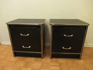 2 bedside tables 19x16x21""