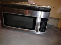 Whirlpool Kitchen Microwave with exhaust - good condition used