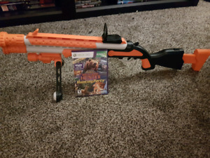 Cabella's big game hunter for xbox 360 with gun.