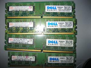 Dell 4GB DDR2 5300U desktop RAM memory kits