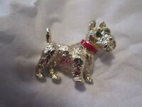 BRAND NEW SILVER PLATED SCOTTISH TERRIER BROOCH
