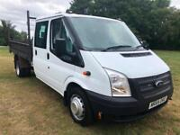 Ford Transit 350 3.5T Crewcab Tipper, 1 Owner, Only 35663 Miles, Full History