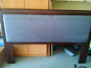 Queen Headboard - Real Wood, Removable Insert to Change Fabric