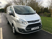 2016 65 FORD TRANSIT CUSTOM LIMITED TOP SPEC 2.2TDCI 125BHP 270 1 OWNER SILVER