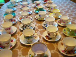 Various Fine Bone China Coffee Tea Cup Saucer Sets