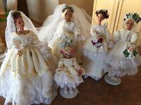 Princess Diana wedding party doll set