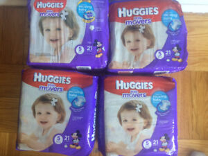 Huggies Baby Diapers sizes 3,4 and 5