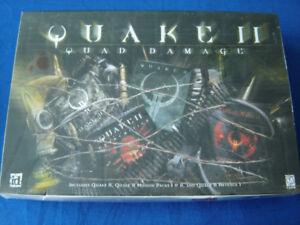 Quake 11- Quad Damage - 4 CDs - PC CD-ROM Game