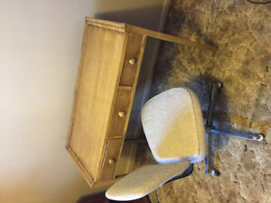 Desk/Make-Up Table with Chair