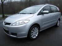 07/07 MAZDA 5 1.8 TS2 7 SEAT MPV IN MET SILVER WITH ONLY 81,000 MILES