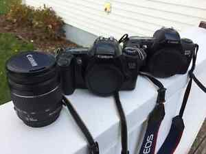Canon RebelX S & EOS 3000 with lens and one unused film