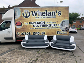 Brand new ex display 3 &2 seater sofa in black & white leather £499