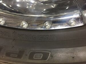 "8 BOLT 24"" CORE RACING RIMS & LT 325/50/24 TOYO A/T TIRES Strathcona County Edmonton Area image 3"