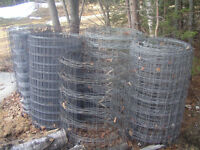 Fencing, wood and steel fence posts, new or previously used.