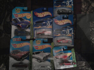 a long list of collectable toys in wrapping/plastic