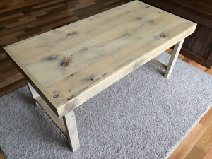 Brand new pine coffee table