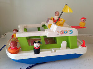 Vintage Little People House Boat