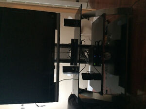Glass tv stand...Exceptable condition