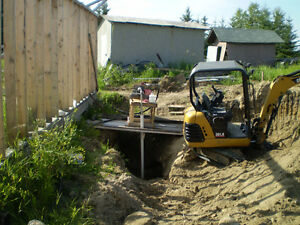 WANTED- CUSTOMERS FOR MINI BACK HOE WORK