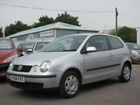 2004 VOLKSWAGEN POLO 1.4 SE 3DOOR HATCH -ONLY 47000 MILES FROM NEW !!
