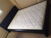 Queen Size Bed Frame, Mattress, and Bed Base