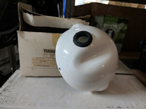 Yamaha 1978-81 T400/TT500 /TY175-250 Headlight Case White NOS
