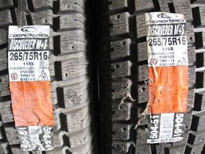 2  NEW COOPER DISCOVERER 265/75R  X 75  16 M+S TIRES
