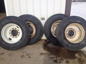 For sale 4 used 11R 22. 5 trailer tires
