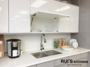 *SALE* Clean Euro Style White/Grey Acrylic High Glossy Kitchen C