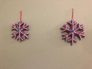 Purple Snowflake Decorations