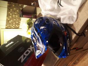Youth dirtbike helmet