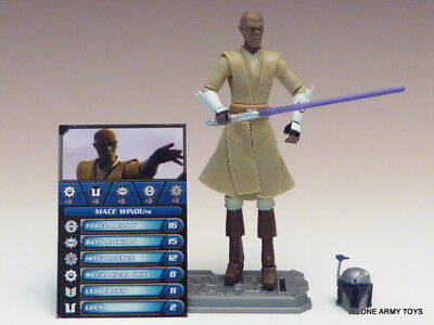 STAR WARS Mace Windu JEDI MASTER CLONE WARS COLLECTION CW20 TCW MANDALORIAN