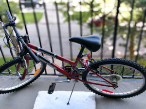"24"" red mountain bike"