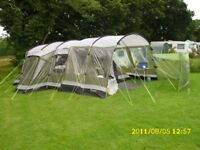 Outwell Montana 6 tunnel tent with extras