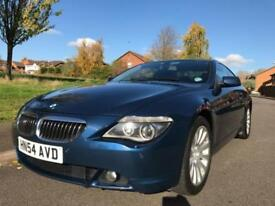 BMW 645CI PETROL 4.4 AUTO (2004 54) 2 DOOR COUPE MYSTIC BLUE
