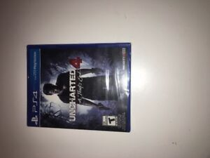 PS4 Uncharted 4: A Thief's End.  Brand new unopened