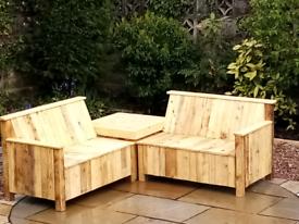 Corner Garden Seat - (Made to Order) Spring Offer!