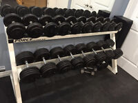 Two Teir Heavy Duty Dumbell rack