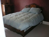 1800s Bedroom Set Bed 2 Dressers Vanity and Bench $600