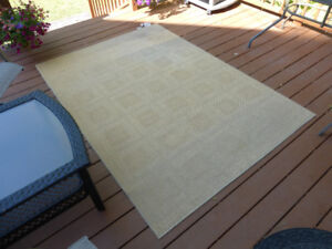 Indoor 5x7 Jacquard Squares Jute Rug  from Pier 1