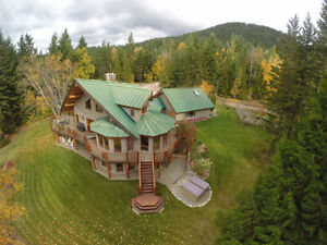 5810 Hartnell Rd, Vernon - Unique log & Beam Home on 8.48 Acres