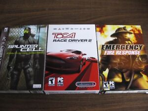 Splinter Cell,Toca Race Driver 2,Emergency Fire Response PC Game